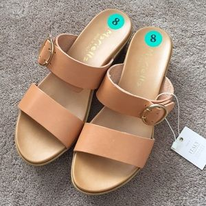 Mariella Made in Italy Platform Leather Sandals